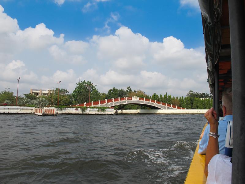 Bridge to lock at entrance of Khlong Bangkok Noi (the former Chao Phraya River).