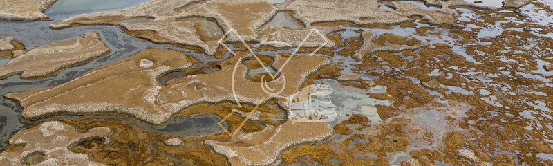 Abstract aerial patterns near the Chatyr-Kul lake in Kyrgyzstan.