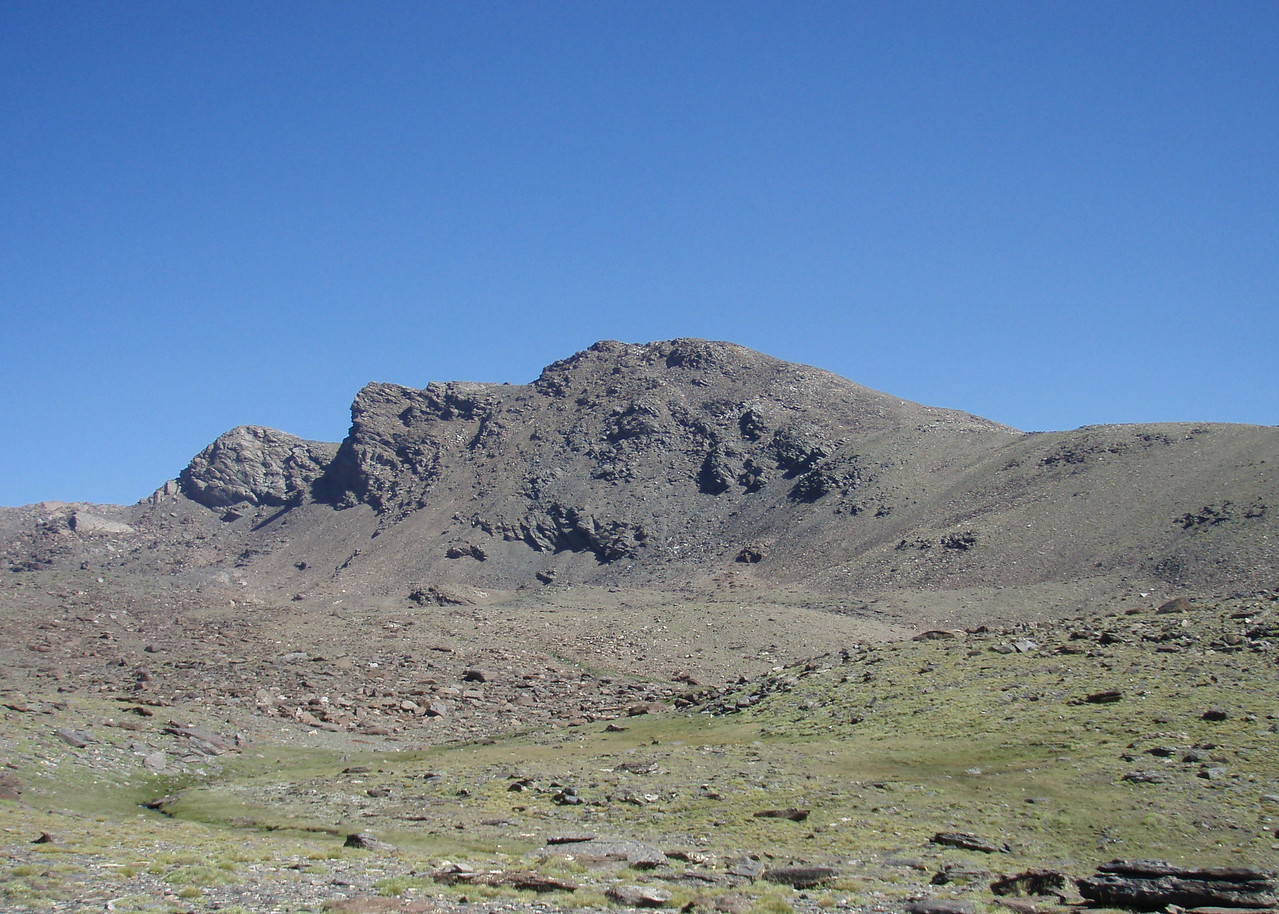 Pico La Alcazaba 3364m situated 2 km north east of Pico Mulhacen