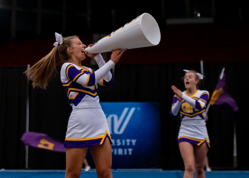 Broughton cheerleading Pre-States. November 16, 2019. D4S_1746