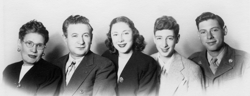1946. Esther, Marcus, Fay, Naphtali, Abba