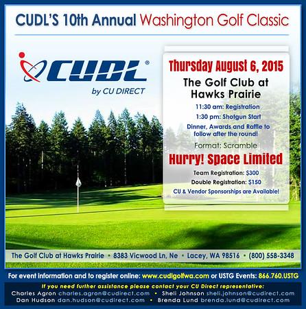 2015 CUDL Washington Golf Classic at Golf Club Hawks Prairie