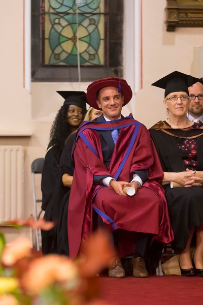29/10/2015. Waterford Institute of Technology Conferring. Pictured is Barry Lambe from Waterford who was conferred a Doctor of Philosophy. Picture: Patrick Browne
