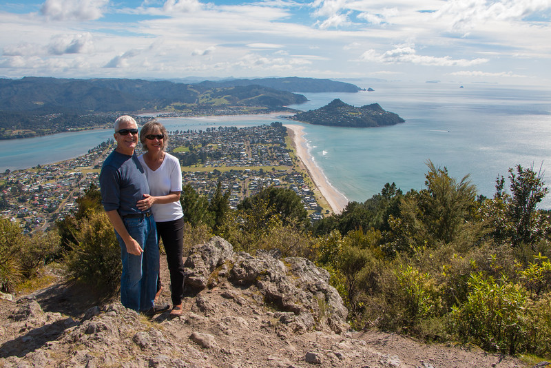 Honeymooners above Pauanui 5596