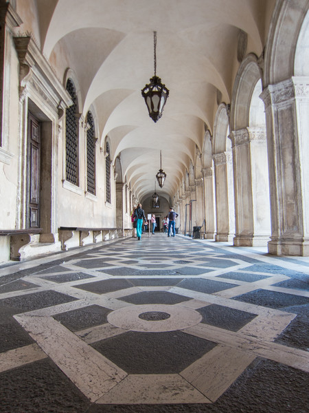 Roof and floor in the courtyard of the Doge's Palace.