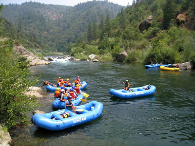 David's 40th Bday: Rafting on the American River, July 2008