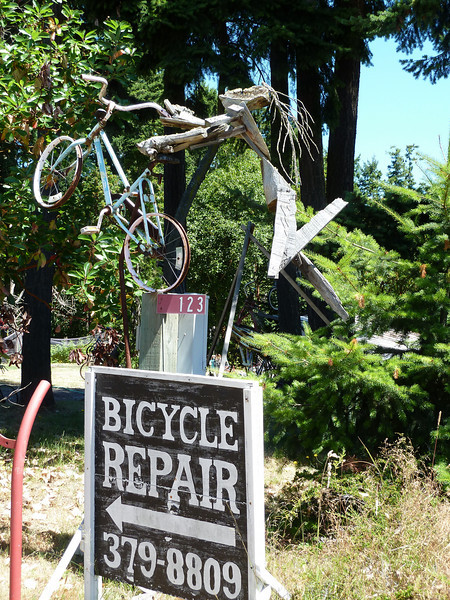 2010 07 Bike Sclupture, Port Townsend,WA