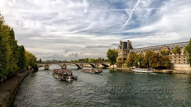 Tourist Boats on the Seine