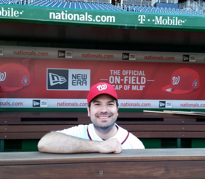 Craig in the Nationals dugout