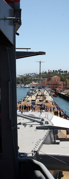 Ship profile from bridge.