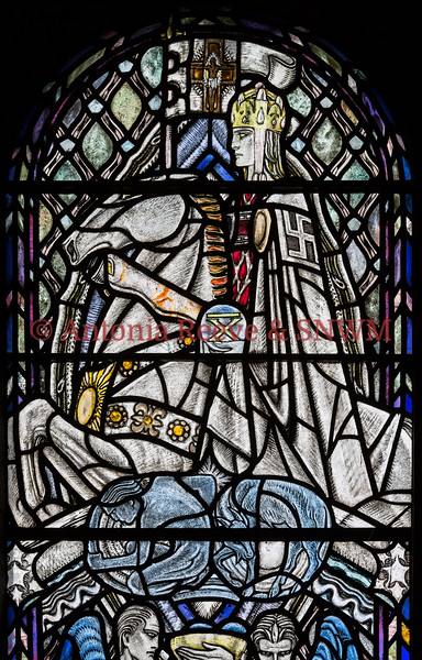 Detail of Shrine Window 6 A Christian Knight