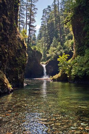 Punchbowl Falls, Eagle Creek Oregon Waterfall