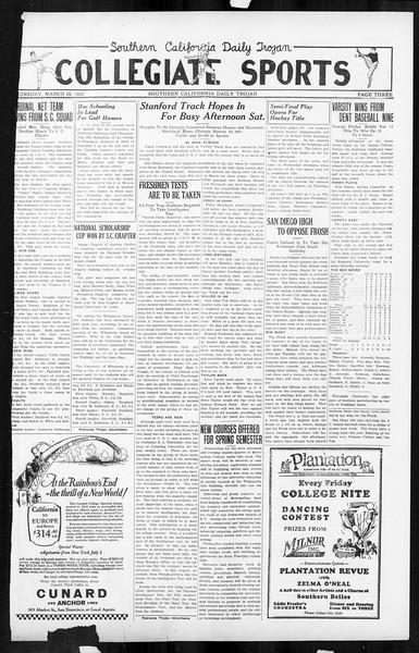 Daily Trojan, Vol. 16, No. 76, March 26, 1925