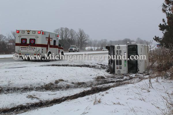 2/26/20 - Leslie rollover crash, southbound US-127 MM 58