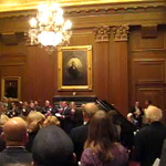 Chief Justice John Roberts and Associate Justice Antonin Scalia lead Hark! the Herald Angels Sing