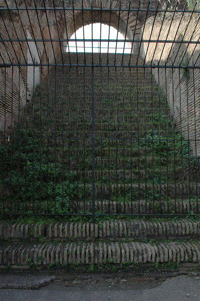 Stairway to the upper levels inside the Coliseum.