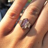 1.96ctw Fancy Golden Brown Hexagon Diamond and Baguette Trilogy Ring 24