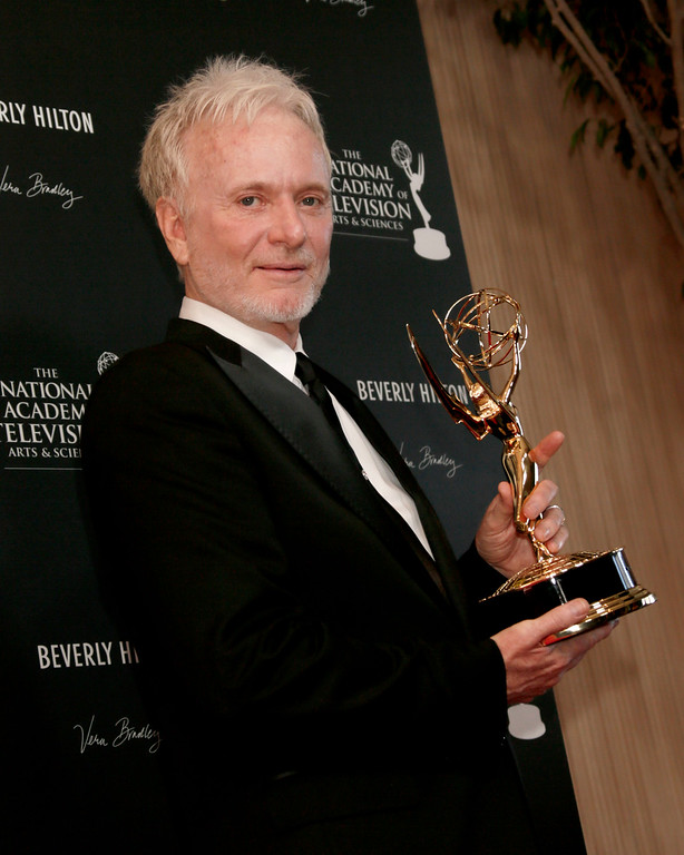 ". Anthony Geary poses backstage with the award for lead actor in a drama series for ""General Hospital\"" at the 39th Annual Daytime Emmy Awards on HLN at the Beverly Hilton Hotel on Saturday, June 23, 2012 in Beverly Hills, Calif. (Photo by Todd Williamson/Invision/AP)"