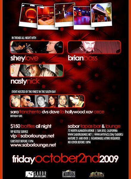 Dirty Pretty @ Sabor Tapas Bar & Lounge 10.2.09