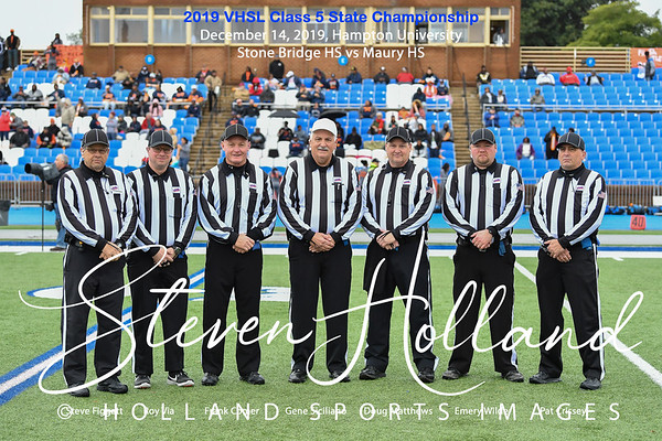 Football - VHSL Class 5 Championship - Referees 12.14.2019 (by Steven Holland)