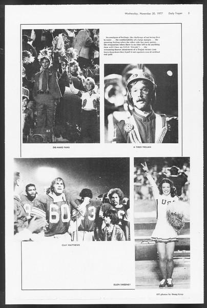 Daily Trojan, Vol. 72, No. 47, November 30, 1977