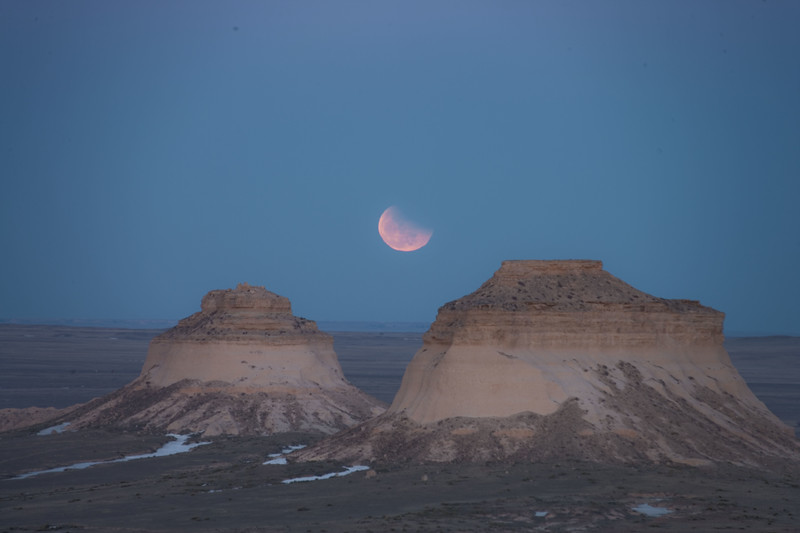 Pawnee Buttes Eclipse Moonrise