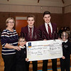Cloughoge PS present cheque to St Paul's High School International Project, pictured are members of the Carroll Family,Shane,Rory,Eoin and Laura,also in picture Ashlene Mc Kevitt.