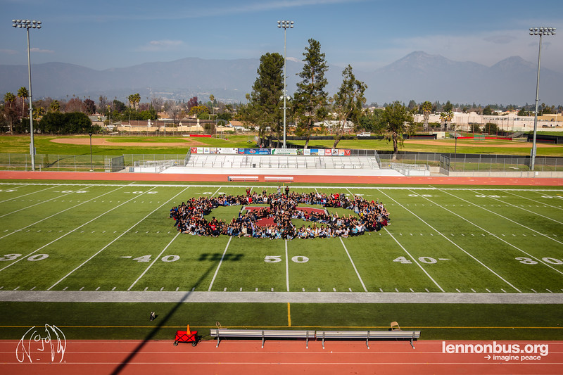 2019_01_30, CA, Human Peace Sign, Pomona