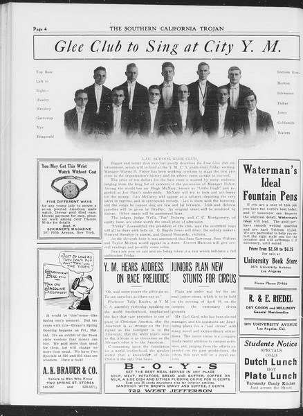 The Southern California Trojan, Vol. 7, No. 82, March 08, 1916
