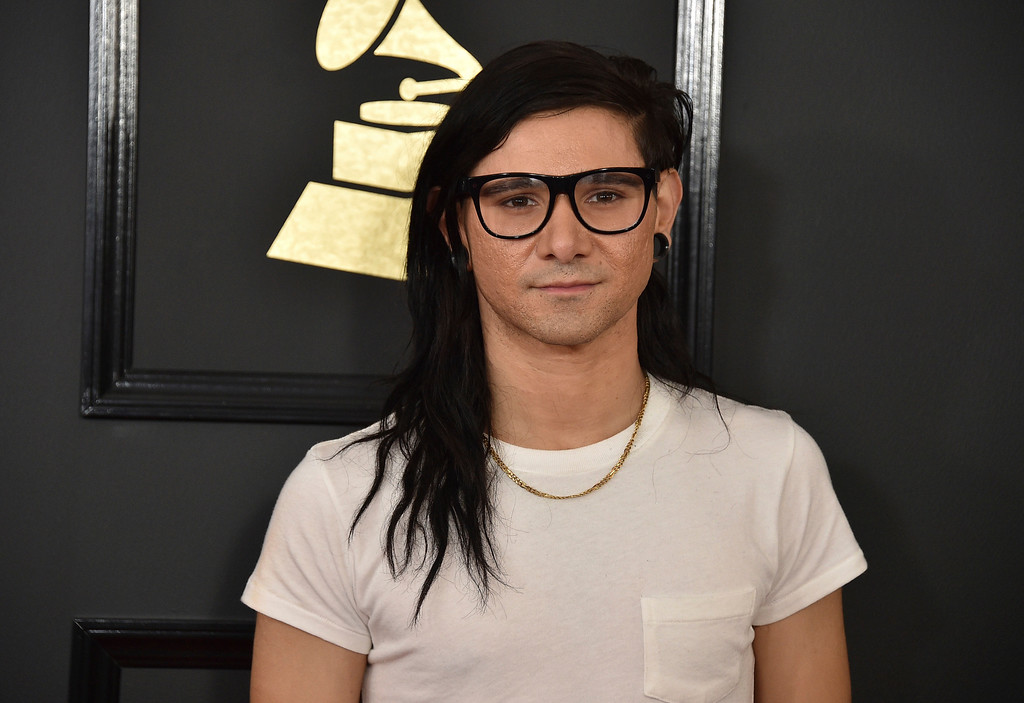 . Skrillex arrives at the 59th annual Grammy Awards at the Staples Center on Sunday, Feb. 12, 2017, in Los Angeles. (Photo by Jordan Strauss/Invision/AP)