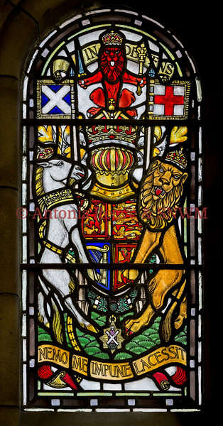 SNWM:Window, West: Royal Arms of Kingdom of Scotland
