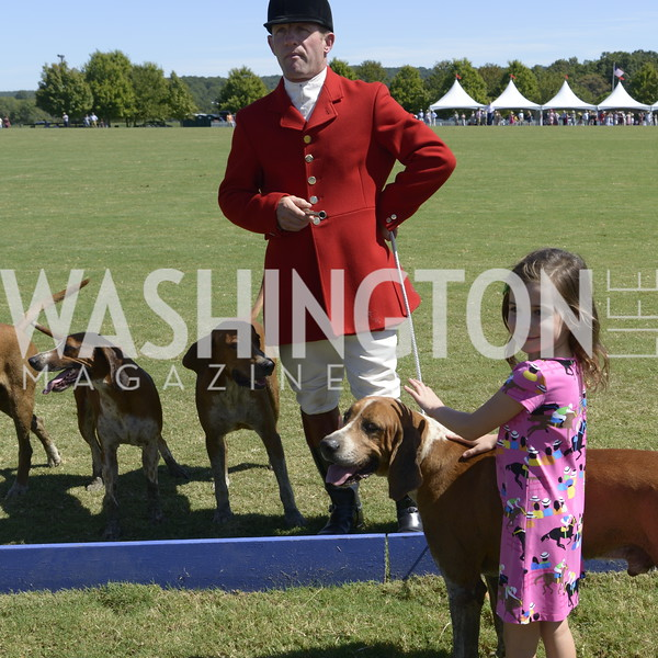 Orange County Huntsman Reg Spreadborough and hounds,  NSLM 2019 Polo Classic Great Meadow Sep 15 2019 Photo by Nancy Milburn Kleck