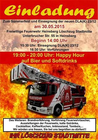 Sommerfest und Fahrzeugeinsegnung neue Drehleiter FF Heinsberg