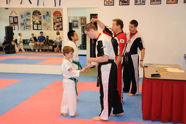 Zachy Purple belt test/graduation