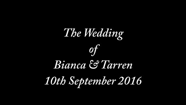 Bianca & Tarren wedding
