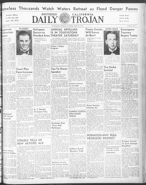 Daily Trojan, Vol. 28, No. 126, April 29, 1937