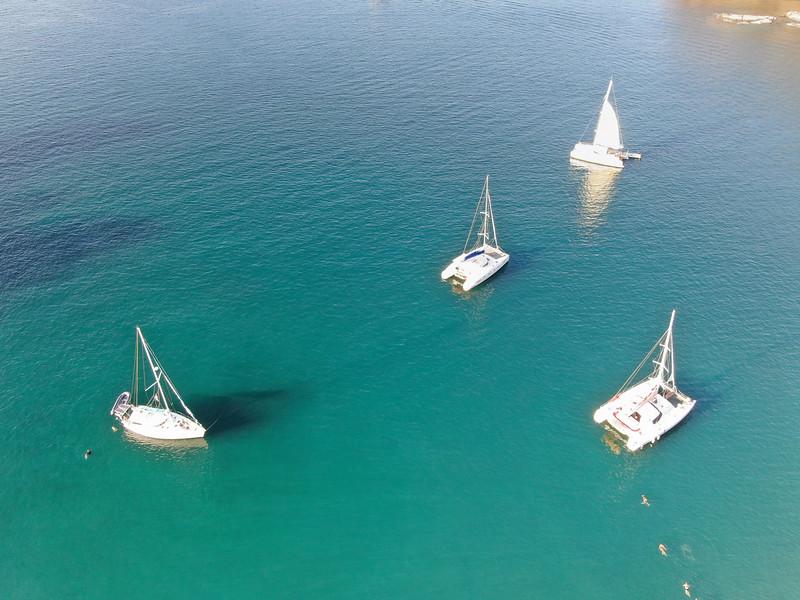 Sailboats in Paradise