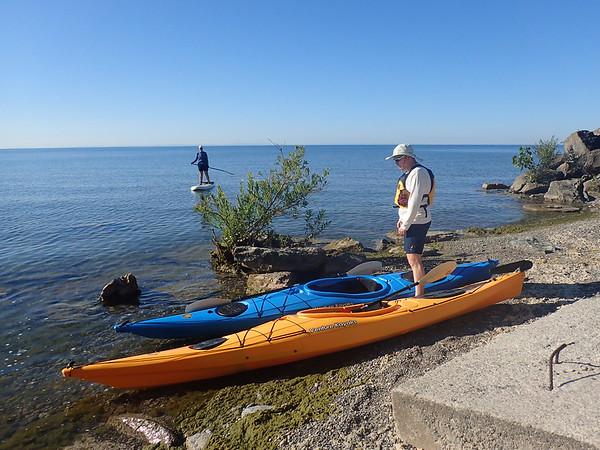 Kayaking at the cottage 2018
