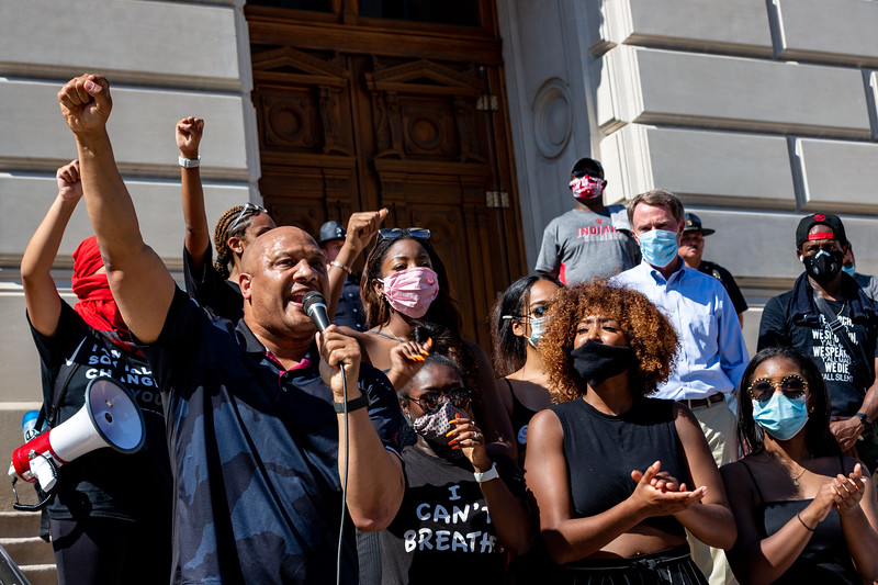 Indianapolis Protest Against Racial Inequality