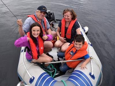 2016-08-13 Padraig, Ruth, Kate and Tom visit Arthur in Lough Key