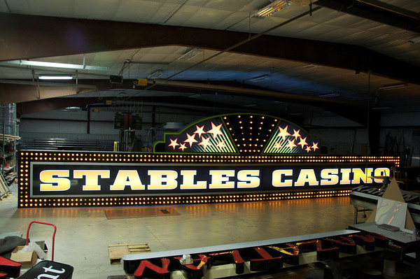 Stables Casino Sign