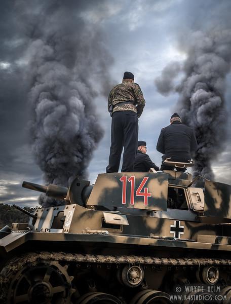 Tank Smoke    Photography by Wayne Heim