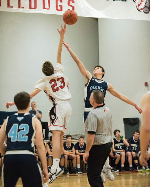 2020 JV Boys Basketball:  Hall-Dale vs Dirigo
