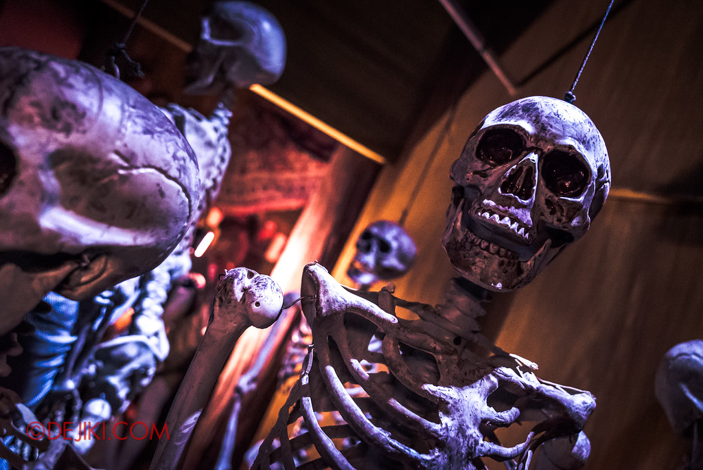 Halloween Horror Nights 7 Behind the Scenes: A Tour Inside HEX haunted house, skeletons