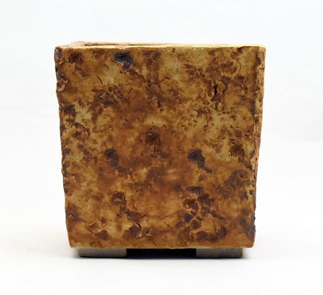 Limestone impressed pot
