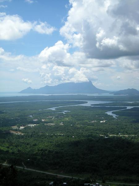 coastal view from a hiking trail at Kubah National Park, Sarawak