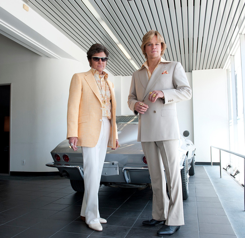 ". Michael Douglas and Matt Damon in HBO\'s ""Behind the Candelabra\"""