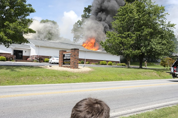 Fire at the former Westside United Pentecostal Church