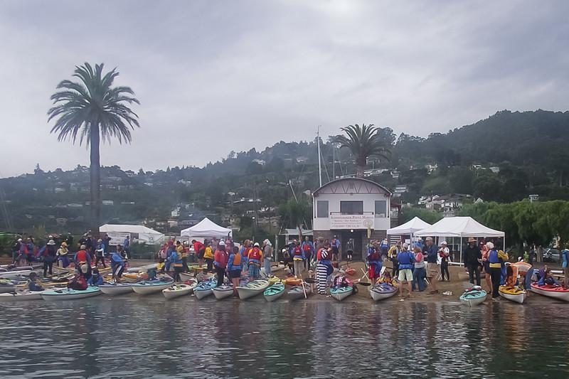 Many boats on the beach
