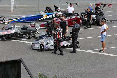 Snowmobile Pits and Staging Lanes